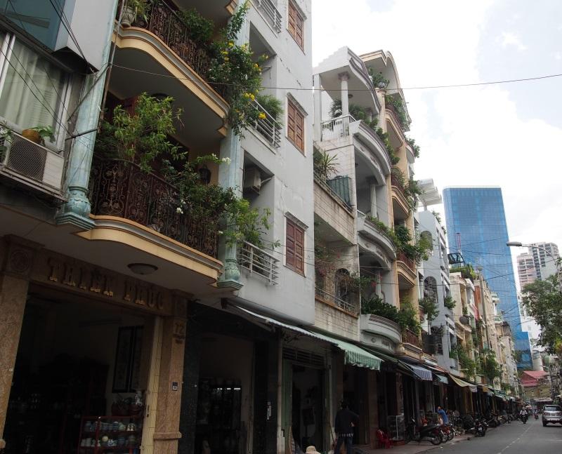Anciens bâtiments coloniaux de Ho Chi Minh