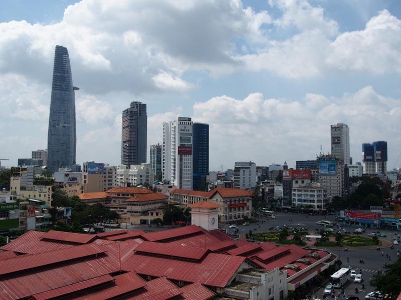 Vu su les buildings d'Hô Chi Minh