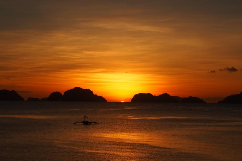 Coucher de soleil à El Nido