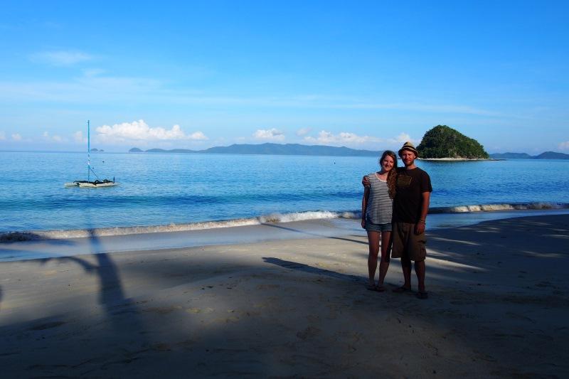 Flo et Will à la plage