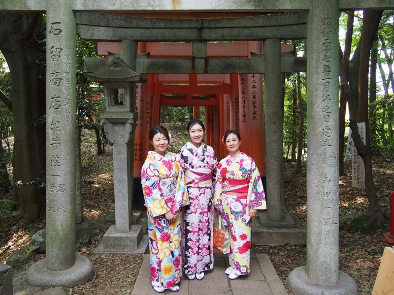 Japonaises en kimono à Kyoto