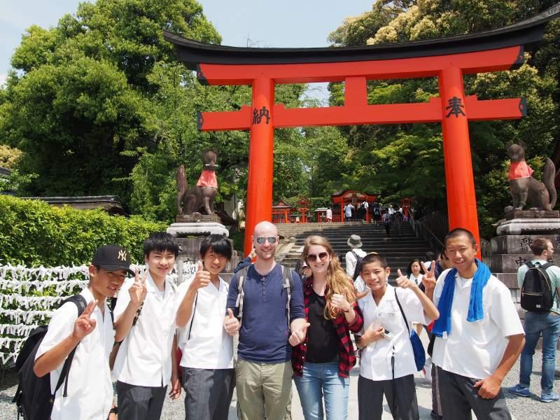 Etudiants japonais à Kyoto