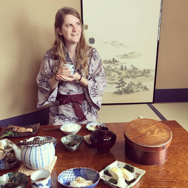 Petit déjeuner en Kimono à Kyoto