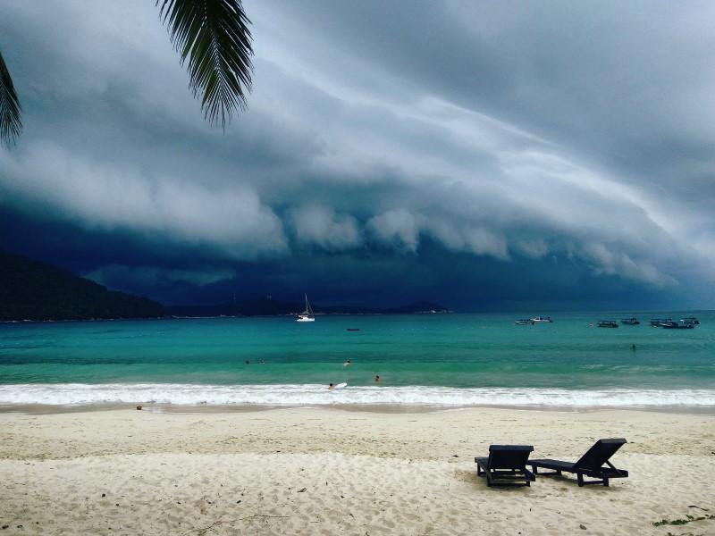 Orage sur les îles Perhentian