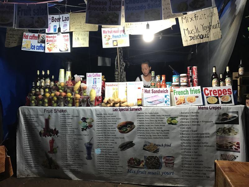 Top 10 des activités à faire à Luang Prabang : stand de sandwichs