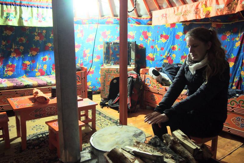 Tu sais que tu es en Mongolie quand : tu te gèles sous la yourte