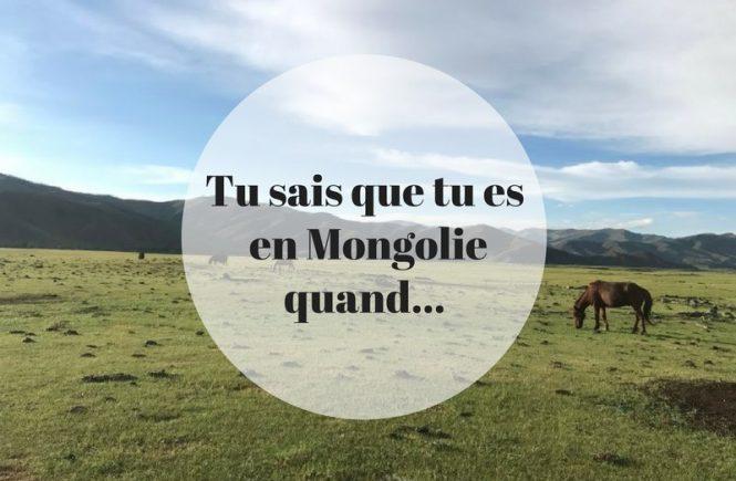 Tu sais que tu es en Mongolie quand...