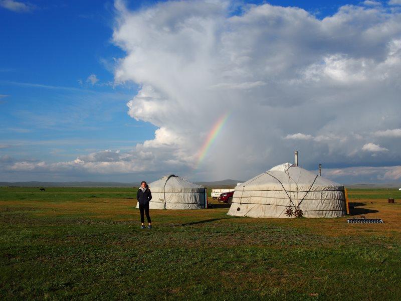 Voyage en Mongolie : camp de nomades