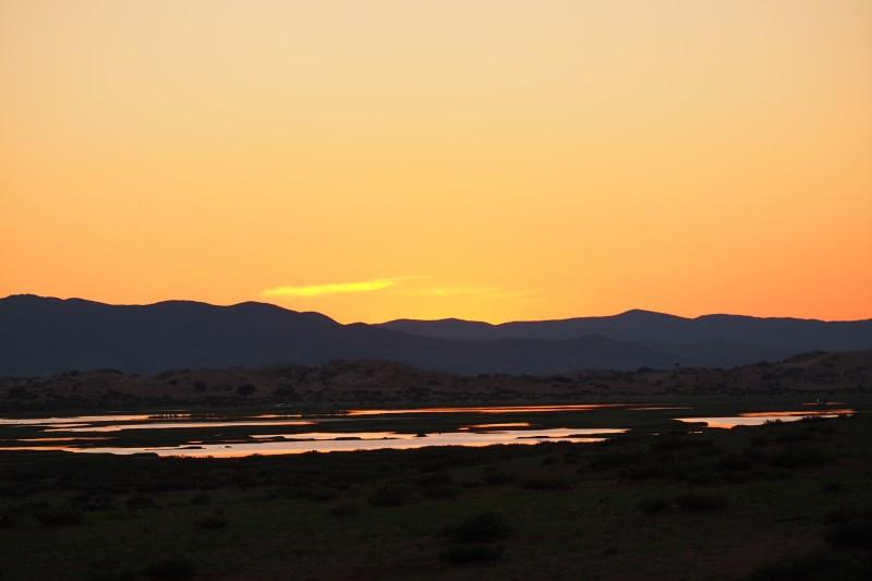 Carnet de voyage en Mongolie : coucher de soleil