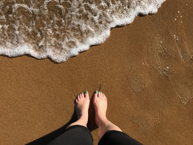Road trip sur la Great Oean Road : les pieds dans l'eau