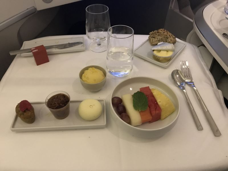Le dessert en Business Class chez Air France