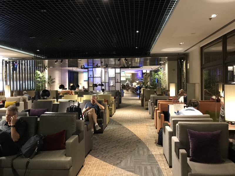 Le lounge à Changi Airport
