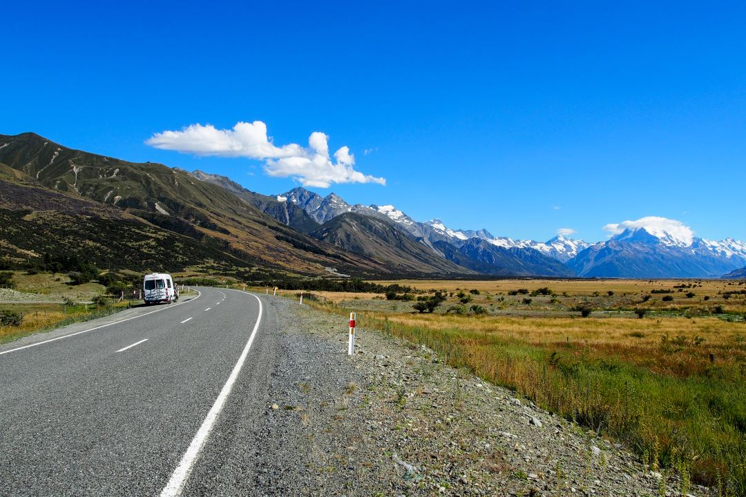 Bien préparer son voyage en Nouvelle-Zélande : sur la route du Mont Cook