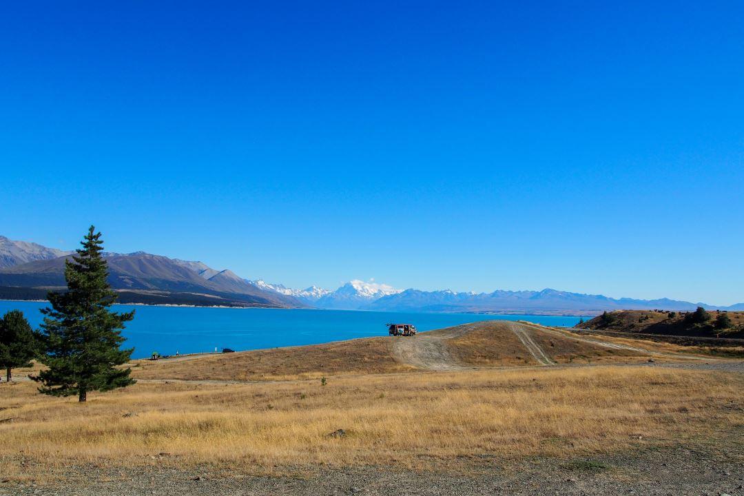Bien préparer son voyage en Nouvelle-Zélande : vue sur le Lac Pukaki