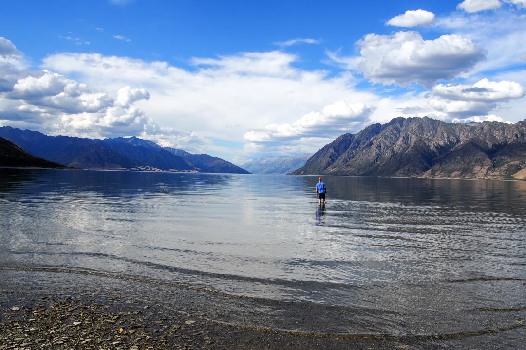 2 semaines en Nouvelle-Zélande : baignade dans le lac Hawéa