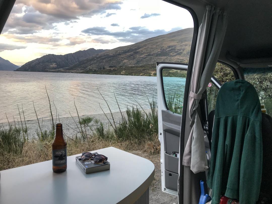 2 semaines en Nouvelle-Zélande : camping face au lac près de Queenstown