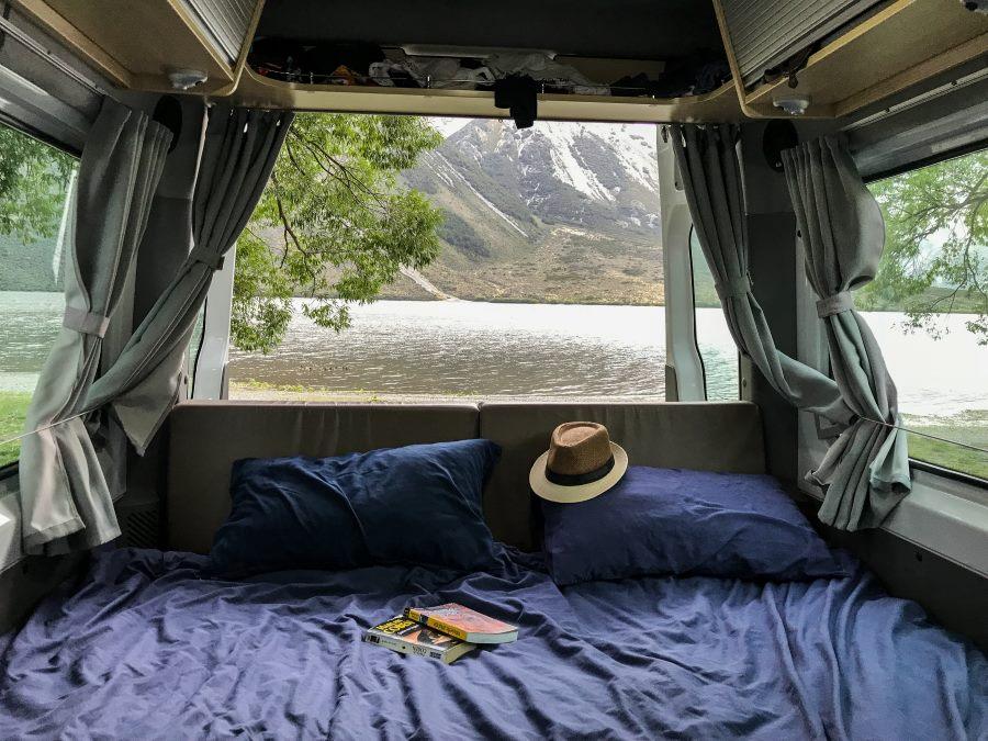 Meilleurs campings gratuits de Nouvelle-Zélande : Lake Pearson Campsite