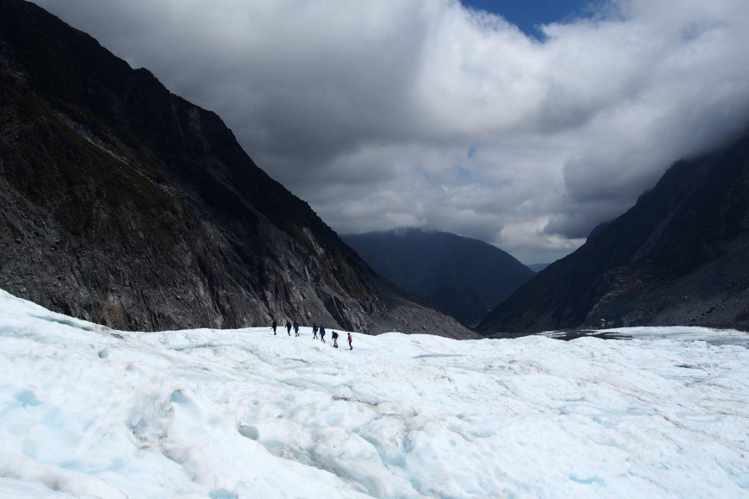 Randonner sur le glacier Fox en Nouvelle-Zélande