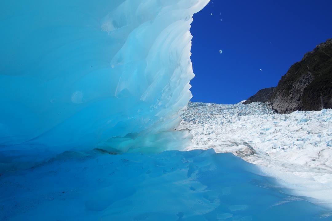 Crevasse sur le glacier Fox