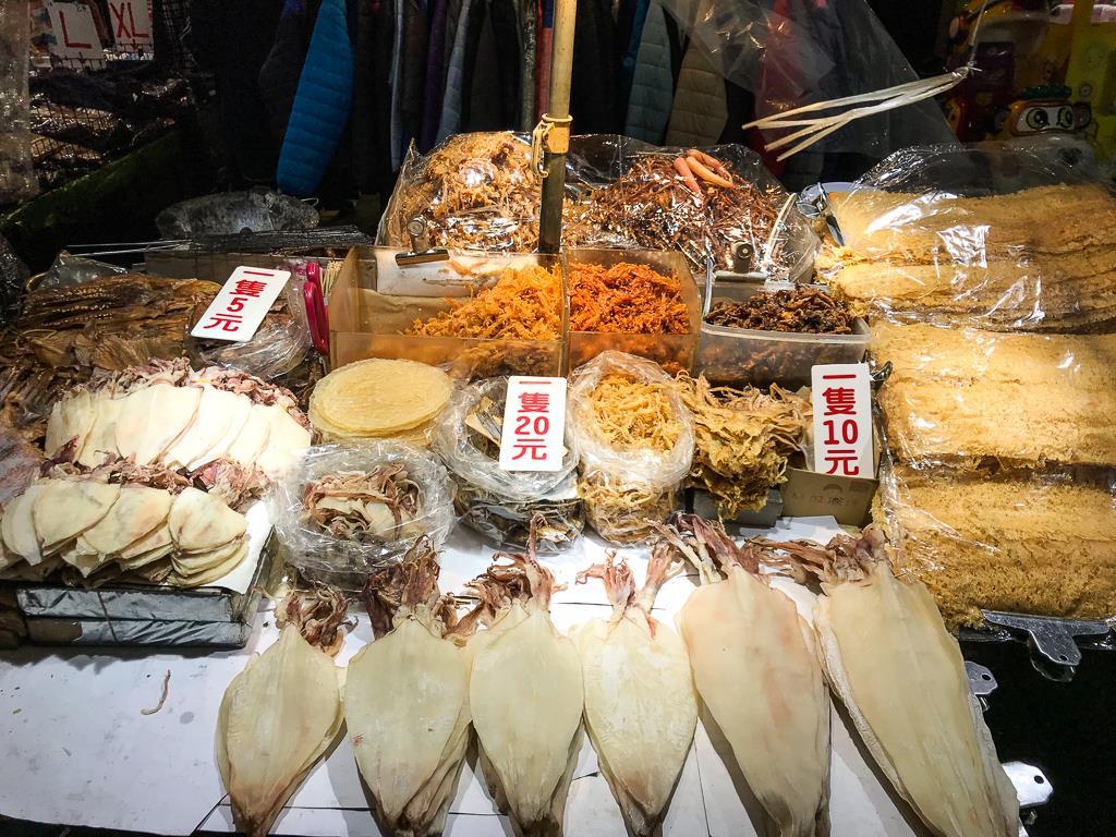 Top 10 des choses à faire à Taipei et ses alentours : poissons et poulpes séchés du night market