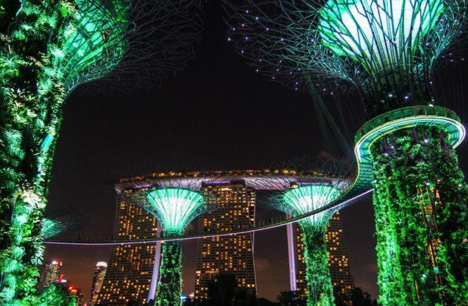 Vivre à Singapour, 10 choses que j'aime à Singapour : les lumières de Garden by the Bay