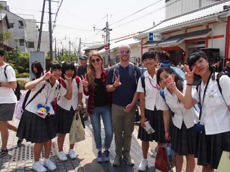 Groupe d'etudiants à Kyoto