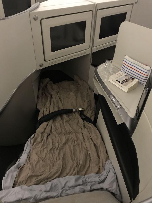 Siège-lit en Business Class chez Air France