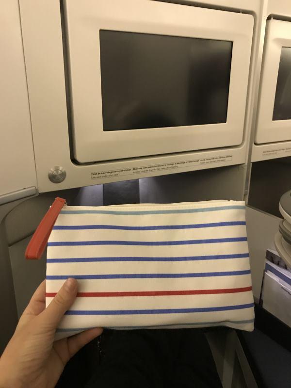 Trousse de toilette en Business Class chez Air France